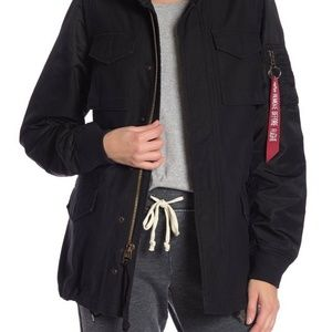 NEW Alpha Industries Fusion Field Coat Black SZ XS